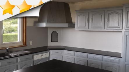 Cure de jouvence pour cette cuisine scs multiservice - Vernis meuble cuisine ...